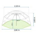 Parasol Plażowy Składany śr. 210 cm