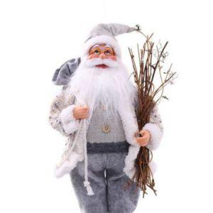 DecoKing Figurka św. Mikołaja 63cm Szara