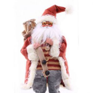 DecoKing Figurka św. Mikołaja 43cm Czerwona