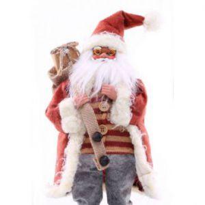 DecoKing Figurka św. Mikołaja 63cm Czerwona