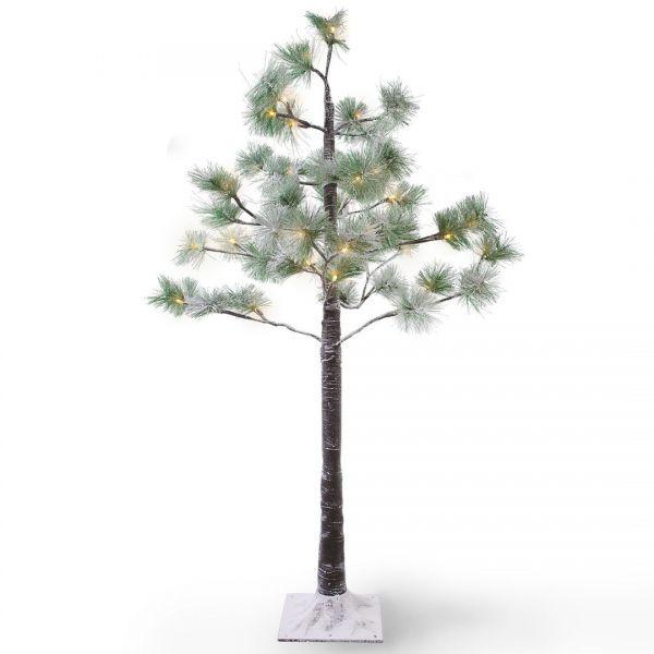 DecoKing Drzewko LED sosna śnieżna 48diod 1m