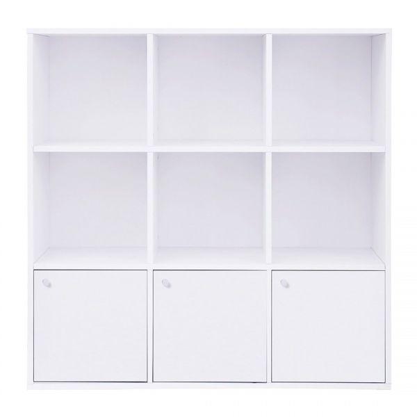SONGMICS Regał na książki 97,5x30x97,5cm Biały