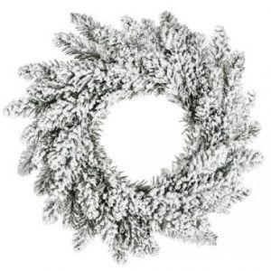 DecoKing Wieniec świąteczny ANNE śnieg 50