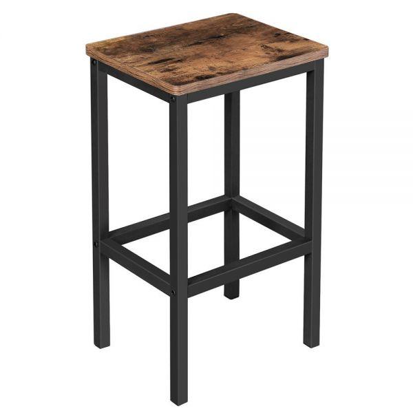 SONGMICS Zestaw 2 stołki barowe industrialne