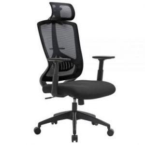 SONGMICS Fotel biurowy Czarny