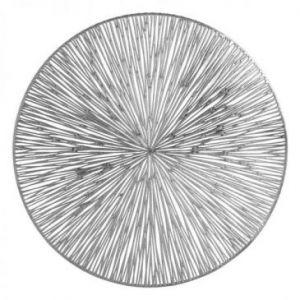 Podkładka okrągła ażurowa AGATHA 38 cm srebrna x6