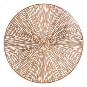 Podkładka okrągła ażurowa AGATHA 38 cm miedziana x6