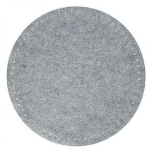 Podkładka filcowa okrągła z cekinami GRACIA 38 cm szara x6