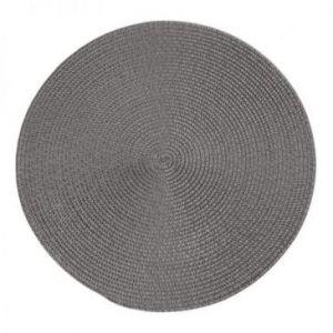 Podkładka na stół okrągła pleciona JUDY 38 cm szara x6