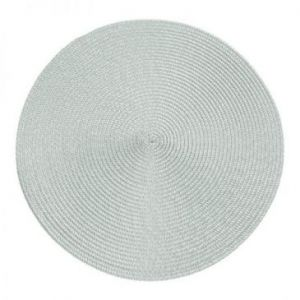 Podkładka na stół okrągła pleciona JUDY 38 cm popielata x6