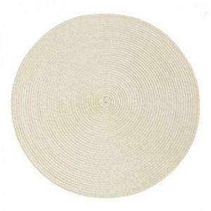 Podkładka na stół okrągła pleciona JUDY 38 cm beżowa x6