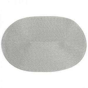 Podkładka na stół owalna pleciona JUDY 45X30 srebrna x6