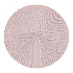 Podkładka na stół okrągła pleciona JUDY 38 cm pudrowa x6
