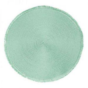 Podkładka z frędzlami NIKI okrągła 38 zielona x6