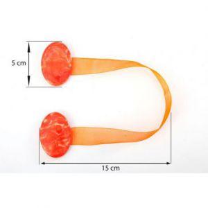 Upinacz dekoracyjny z magnesem owal pomarańczowy x2