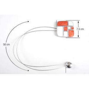 Upinacz dekoracyjny z magnesem biały/ceglasta