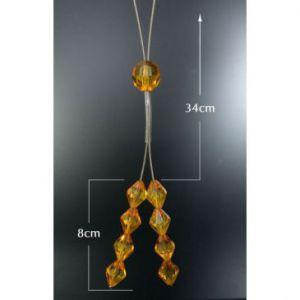 Upinacz dekoracyjny do firan j. pomarańczowe kryształki