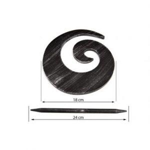 Upinacz dekoracyjny czarny