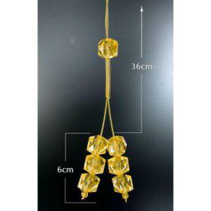 Upinacz dekoracyjny do firan żółte kryształki