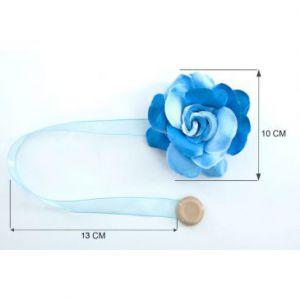 Upinacz dekoracyjny z magnesem róża mała niebieski x2