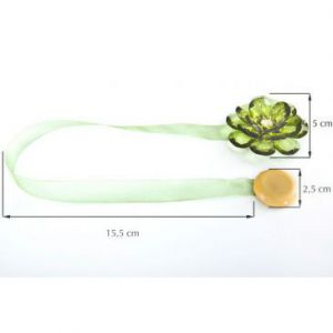 Upinacz dekoracyjny z magnesem kwiatek x2