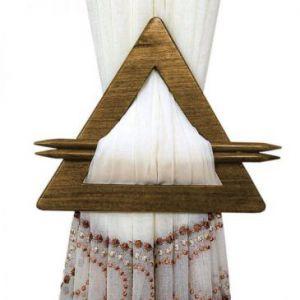 Upinacz dekoracyjny trójkąt brązowy