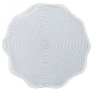 Podkładka na stół pleciona OTELLO 38 cm biała x6