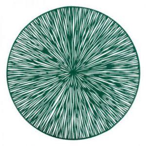 Podkładka okrągła ażurowa AGATHA 38 cm ciemnozielona x6
