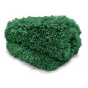 Koc Narzuta Megan Włochacz 150x200 ciemny zielony